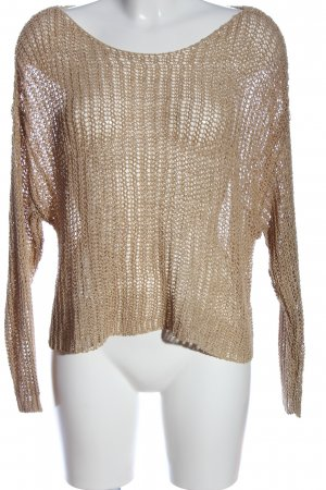Only Crochet Sweater nude cable stitch casual look