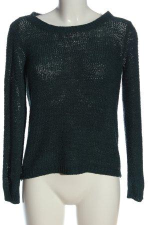 Only Gehaakte trui groen gestreept patroon casual uitstraling