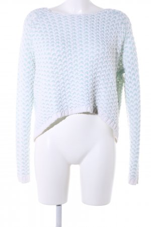 Only Crochet Sweater turquoise-white casual look