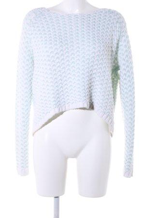 Only Jersey de ganchillo turquesa-blanco look casual