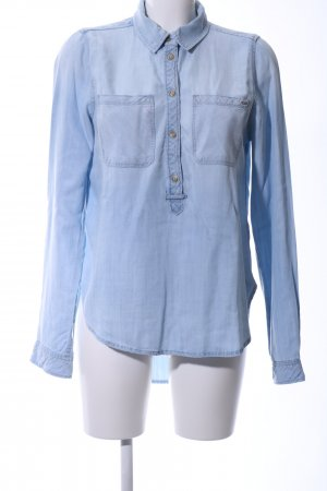 Only Hemd-Bluse blau Casual-Look