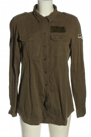 Only Hemd-Bluse khaki Business-Look