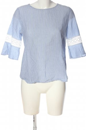 Only Hemd-Bluse blau-weiß Allover-Druck Elegant