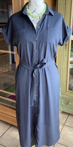 Only Koszulowa sukienka stalowy niebieski