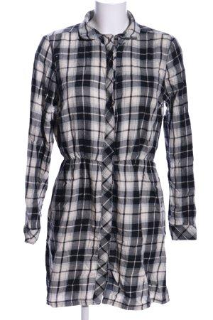 Only Koszulowa sukienka czarny-biały Na całej powierzchni W stylu casual