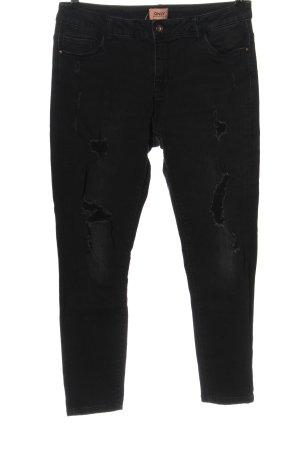Only Pantalon taille haute noir style décontracté