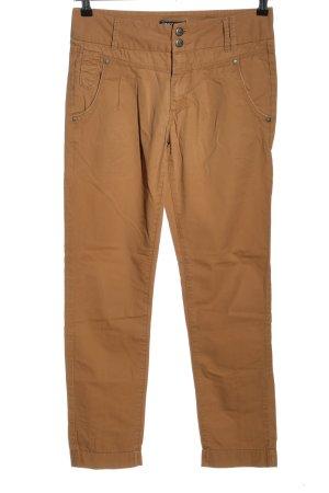 Only Pantalón de cintura alta marrón look casual