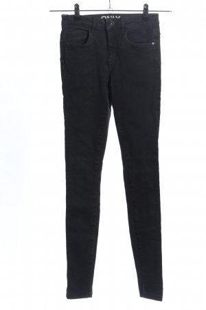 Only High-Waist Hose schwarz Casual-Look