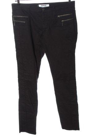 Only High Waist Jeans schwarz Streifenmuster Casual-Look