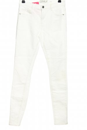 Only High Waist Jeans weiß Casual-Look