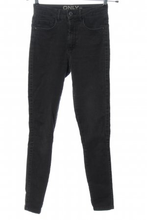 Only High Waist Jeans hellgrau Casual-Look