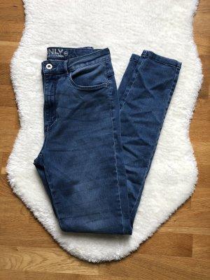 Only Jeansy z wysokim stanem niebieski