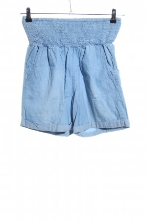 Only High-Waist-Shorts blau Casual-Look