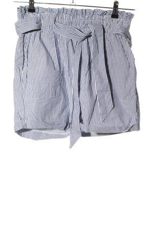 Only High-Waist-Shorts blau-weiß Allover-Druck Casual-Look