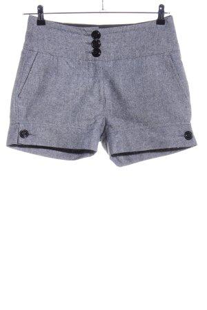 Only High-Waist-Shorts hellgrau meliert Casual-Look