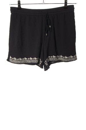 Only High-Waist-Shorts schwarz-weiß Casual-Look