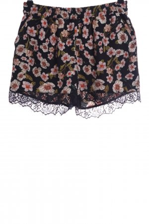 Only High-Waist-Shorts Blumenmuster Casual-Look