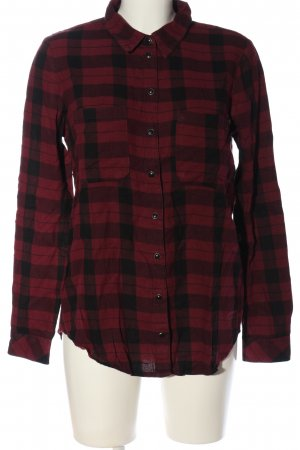 Only Houthakkershemd rood-zwart geruite print casual uitstraling