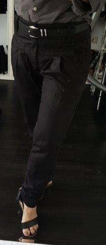 Only Fashion Spodnie z zakładkami czarny