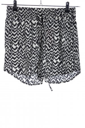 Only Hot Pants schwarz-weiß Allover-Druck Casual-Look