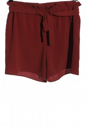 Only Hot pants rosso stile casual
