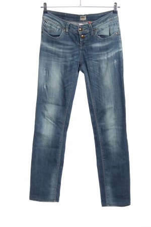 Only Jeans taille basse bleu style mode des rues