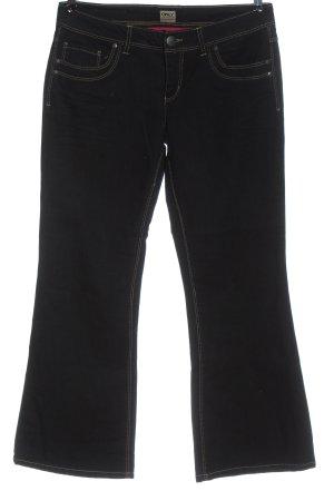 Only Jeans vita bassa nero puntinato stile casual