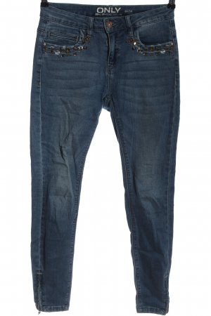 Only Jeans vita bassa blu stile casual