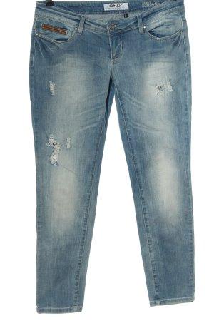 Only Jeans taille basse bleu style décontracté