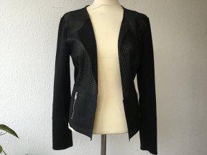 ONLY Jacke Bikerjacke Gr. 40 schwarz Stoff Kunstleder NEU Damen