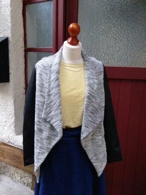 Only: Jacke im offenen Blazer - Stil - grau - schwarz, Gr. M - top!