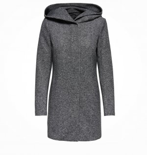Only Hooded Coat anthracite-dark grey