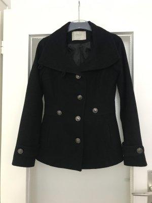 Only Krótki płaszcz czarny
