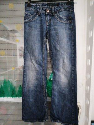 Only Jeansowe spodnie dzwony niebieski