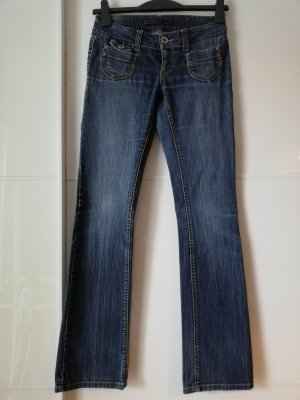 Only Low Rise jeans donkerblauw