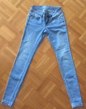Be only Stretch jeans korenblauw