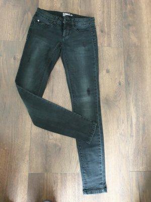 only jeans Vaquero estilo zanahoria gris oscuro-gris antracita