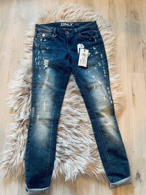 Only Jeans cigarette bleu