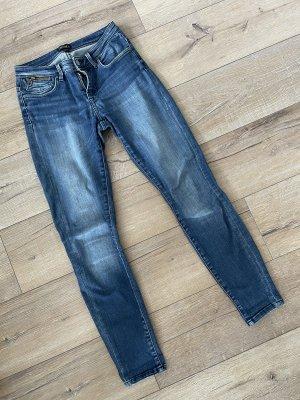 Only Jeans Carmen Skinny Fit dark blue denim Gr. 27/30