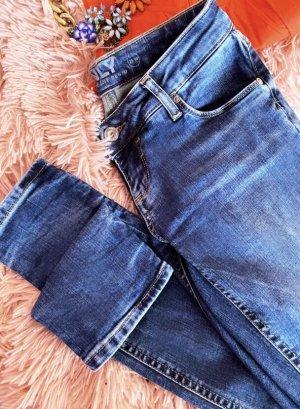 Only Jeans Jeanshose Röhrenjens Röhre skinny skinnyjeans Denim 32 XXS 34 XS W 25 W25 L30 L 30 blaue neue Blue Hose