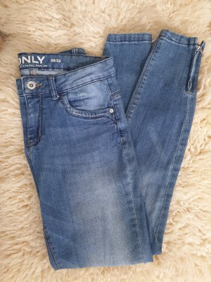ONLY Jeans mid rise mit Zippern