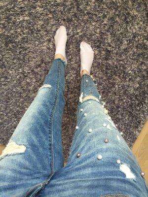 ONLY-Jeans mit Perlen, Größe XS