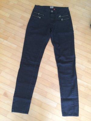 Only Jeans schwarz mit Reißverschlüssen