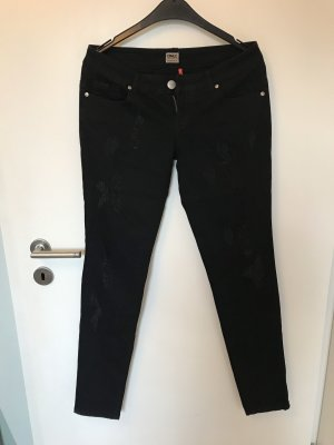 Only Jeans Used Look in schwarz