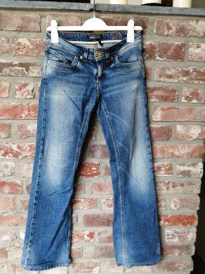Only Pantalon cinq poches bleu foncé tissu mixte