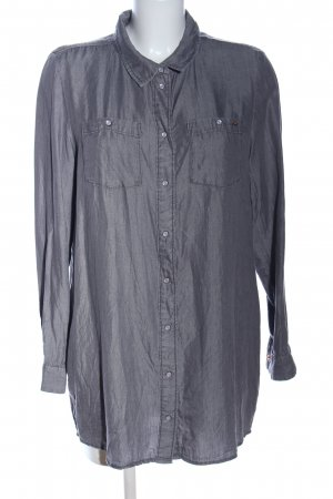 Only Jeansbluse silberfarben Business-Look