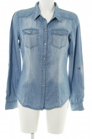 Only Blusa denim blu stile professionale