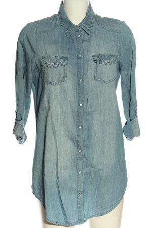 Only Bluzka jeansowa niebieski W stylu casual