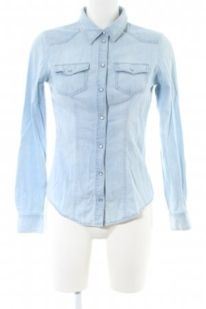 Only Jeansbluse blau Casual-Look