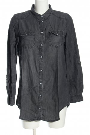 Only Jeansbluse hellgrau Casual-Look